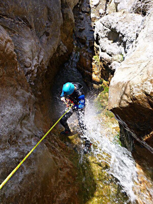 Ambiance humide dans le canyon du Béal Noir