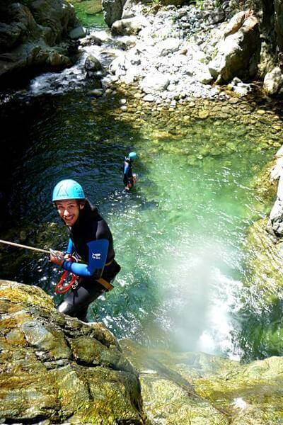 Abseil in canyoning Caprie